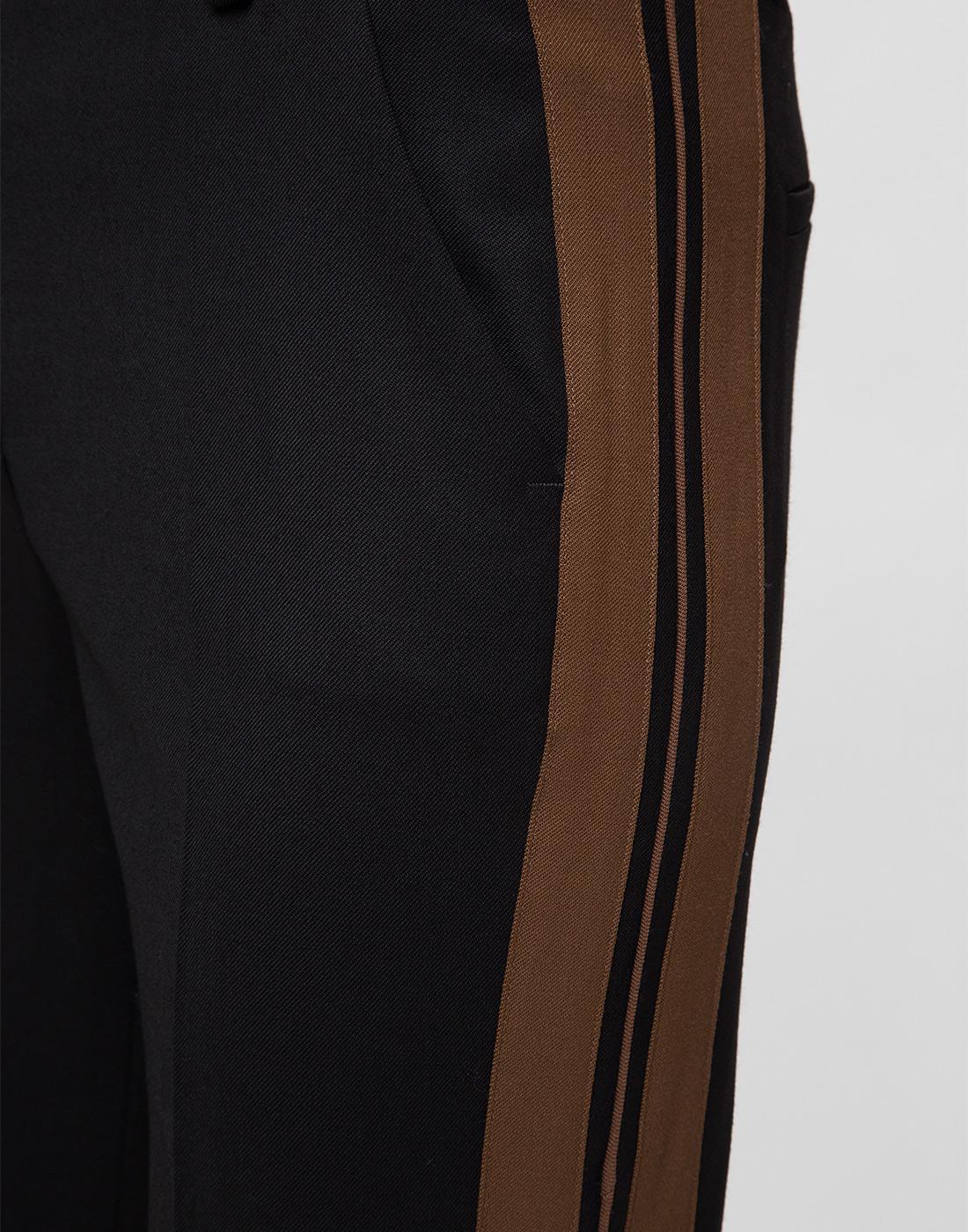 Женские черные шерстяные брюки P.A.R.O.S.H. SLILIU D230311-6