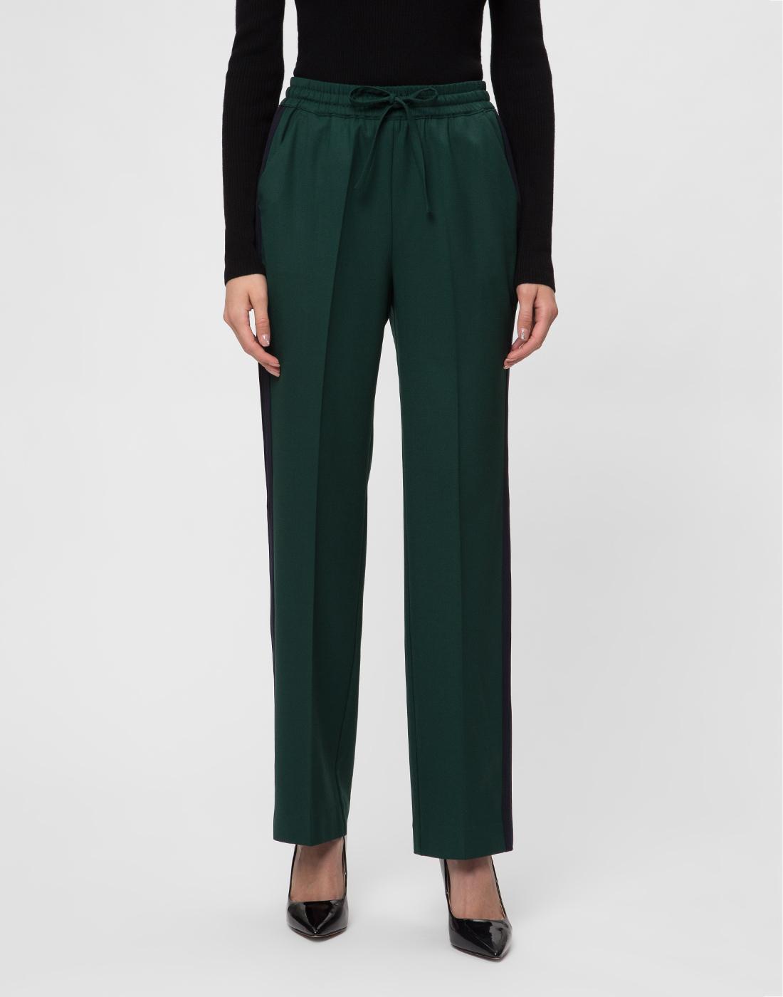 Женские зеленые шерстяные брюки P.A.R.O.S.H. SLILIU D230313-2