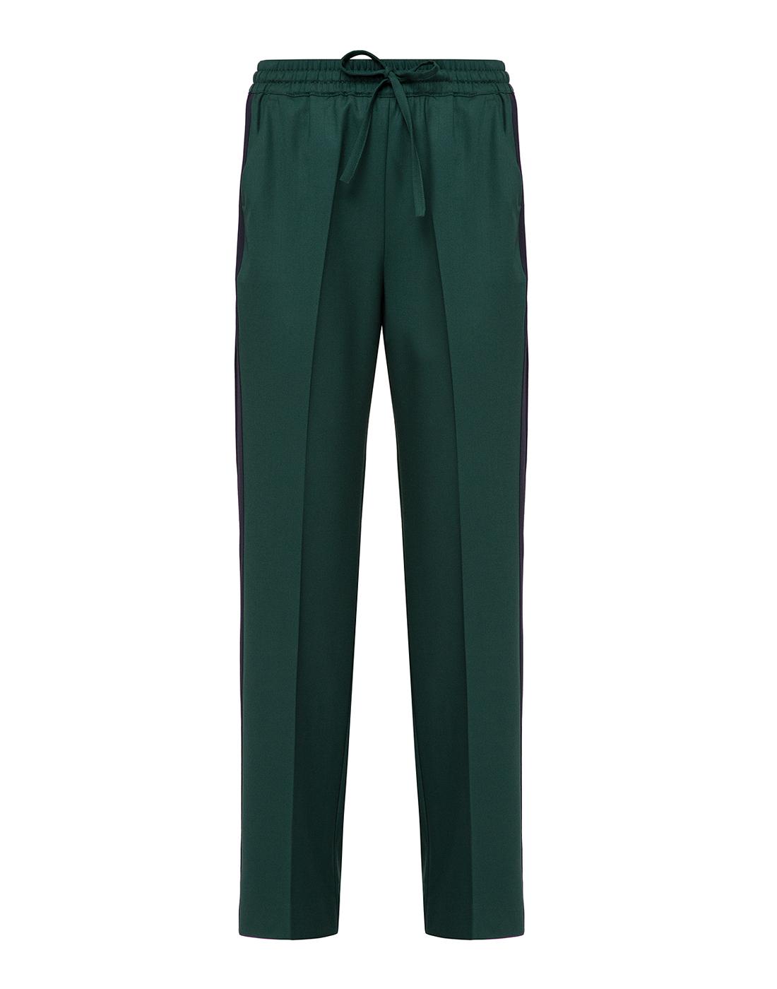 Женские зеленые шерстяные брюки P.A.R.O.S.H. SLILIU D230313-1