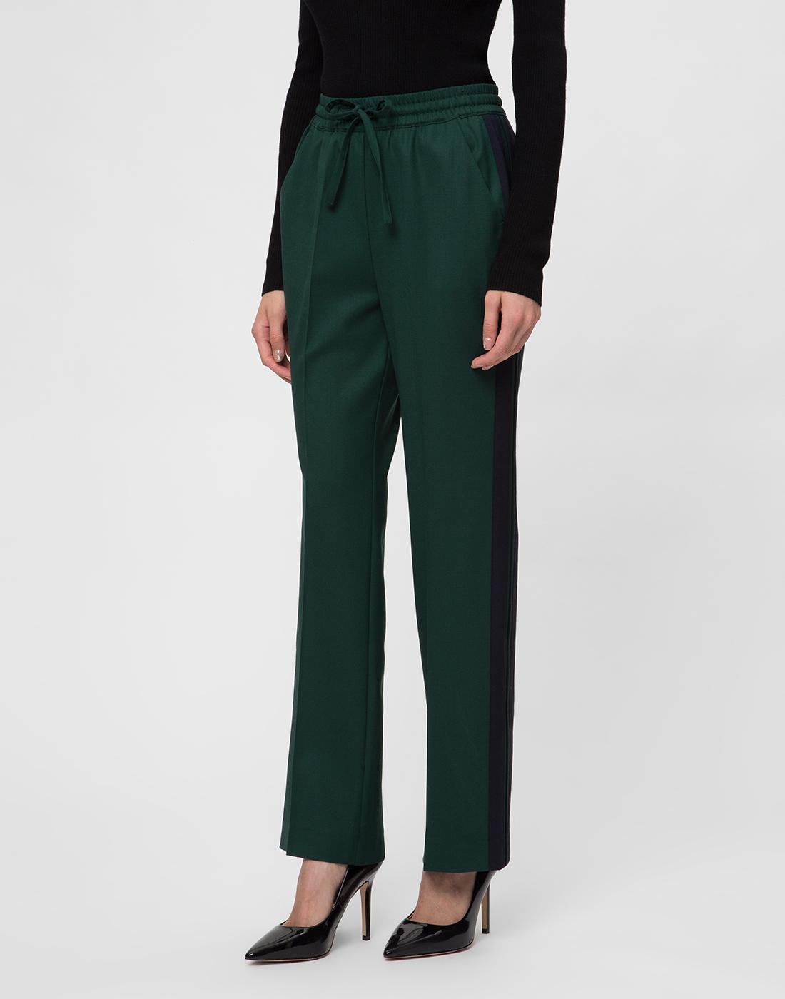 Женские зеленые шерстяные брюки P.A.R.O.S.H. SLILIU D230313-3