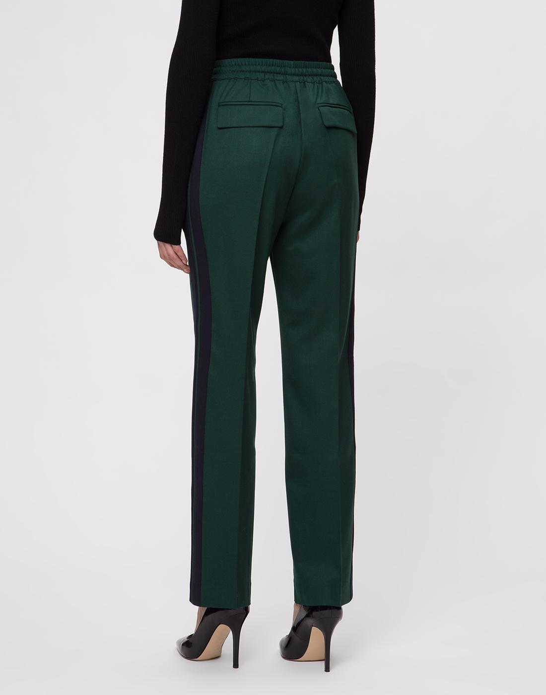 Женские зеленые шерстяные брюки P.A.R.O.S.H. SLILIU D230313-4