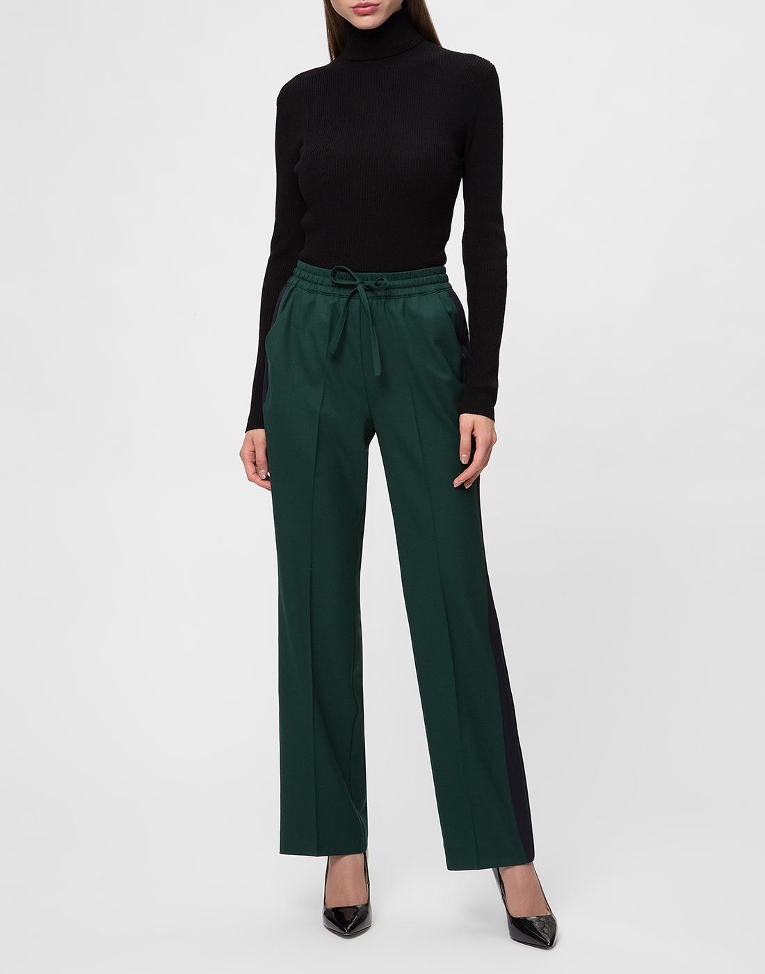 Женские зеленые шерстяные брюки P.A.R.O.S.H. SLILIU D230313-5