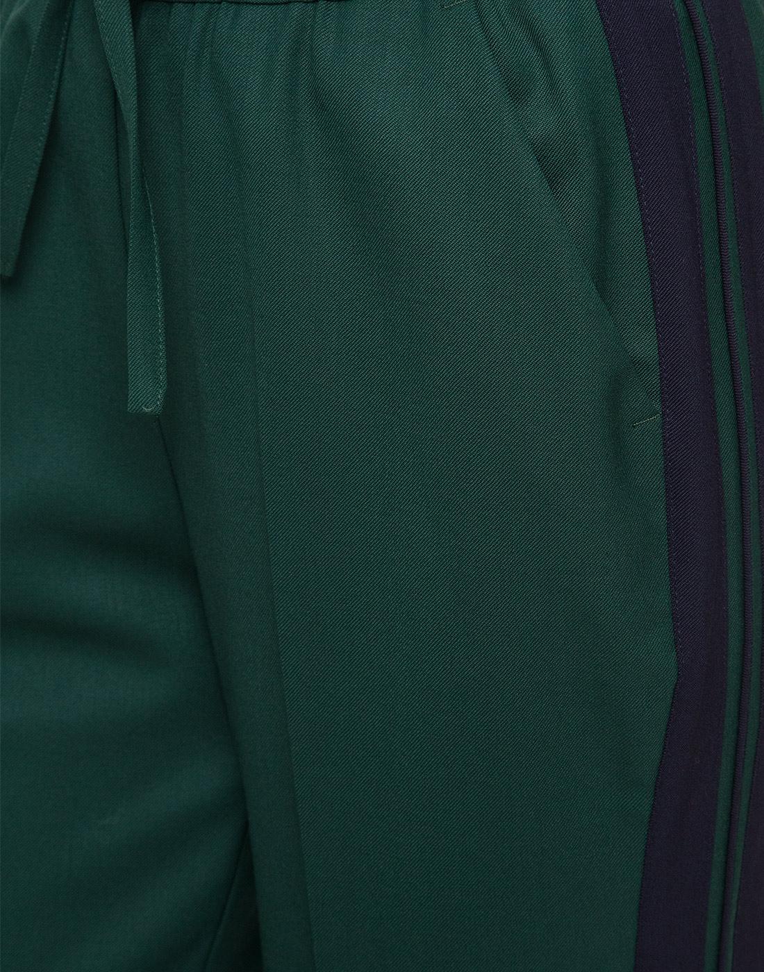 Женские зеленые шерстяные брюки P.A.R.O.S.H. SLILIU D230313-6