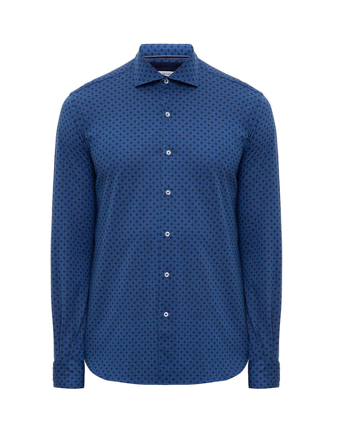 Мужская синяя рубашка с принтом Orian S02JS63 22-1