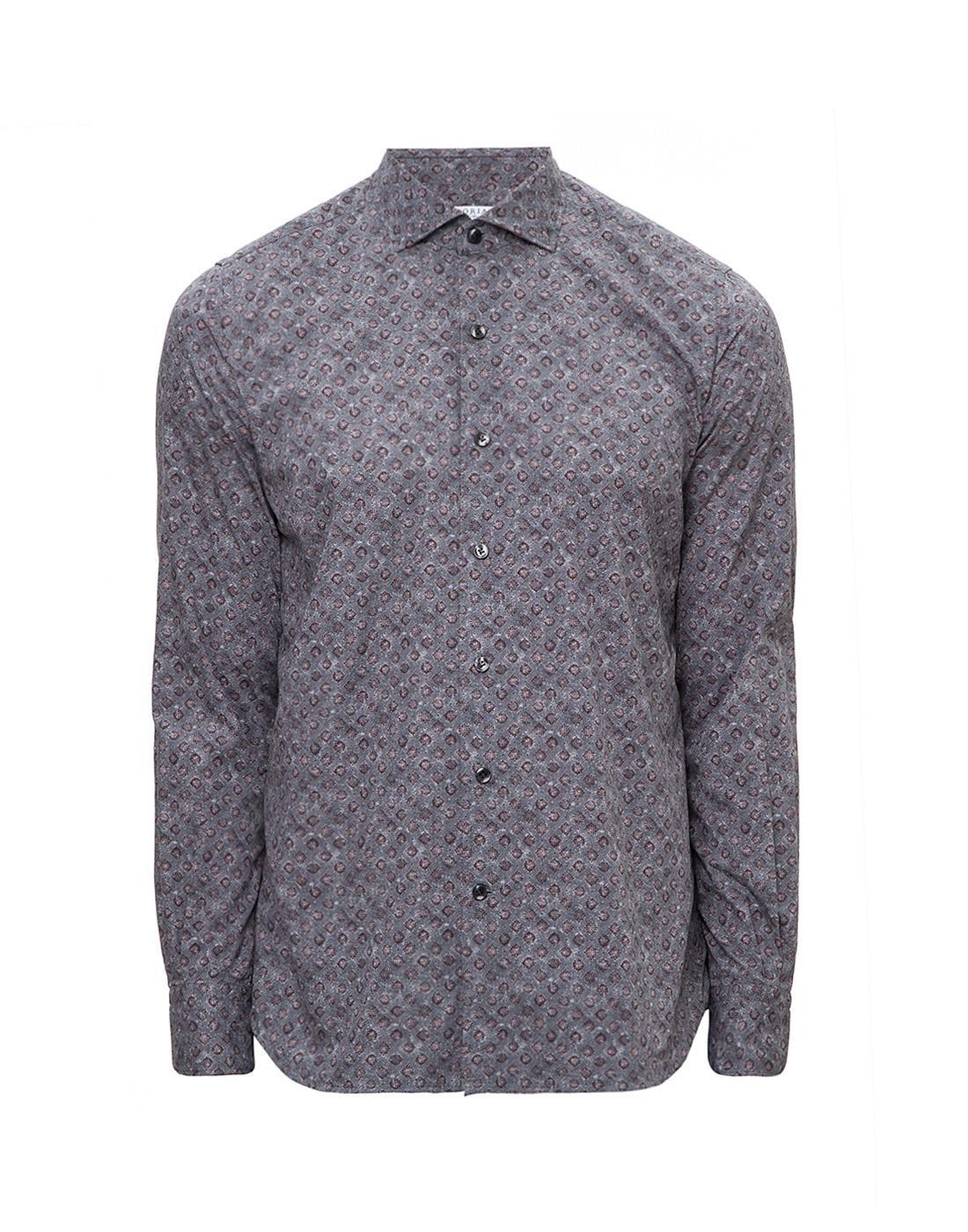 Мужская серая рубашка с принтом Orian S02P258 80-1