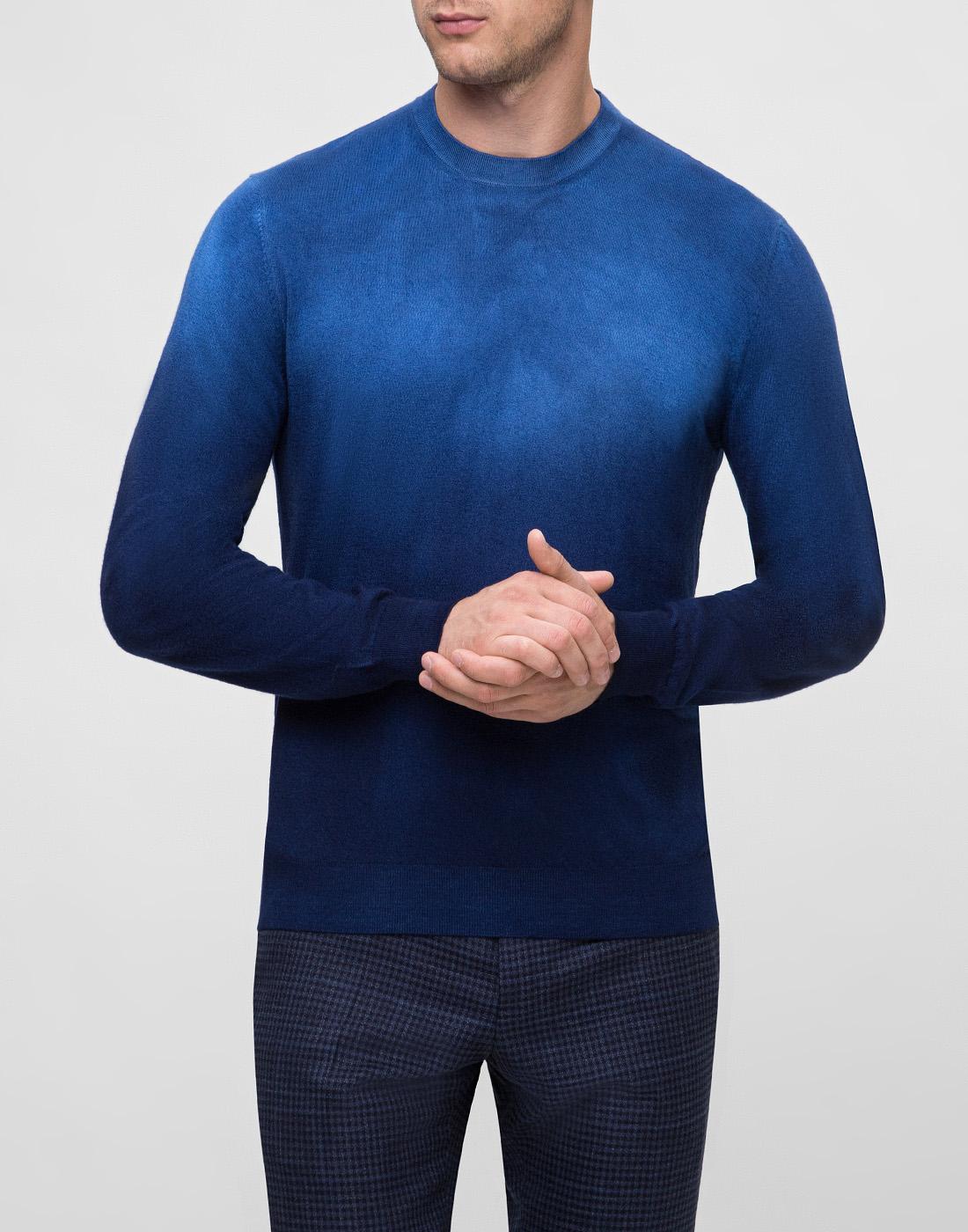 Мужской темно-синий джемпер  Bertolo S901638-2