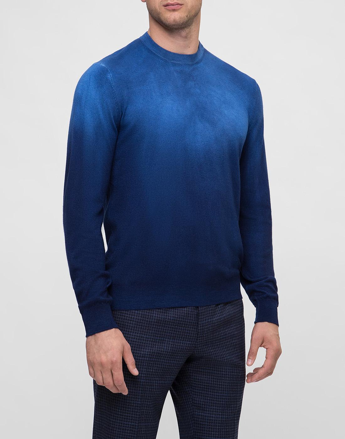 Мужской темно-синий джемпер  Bertolo S901638-3