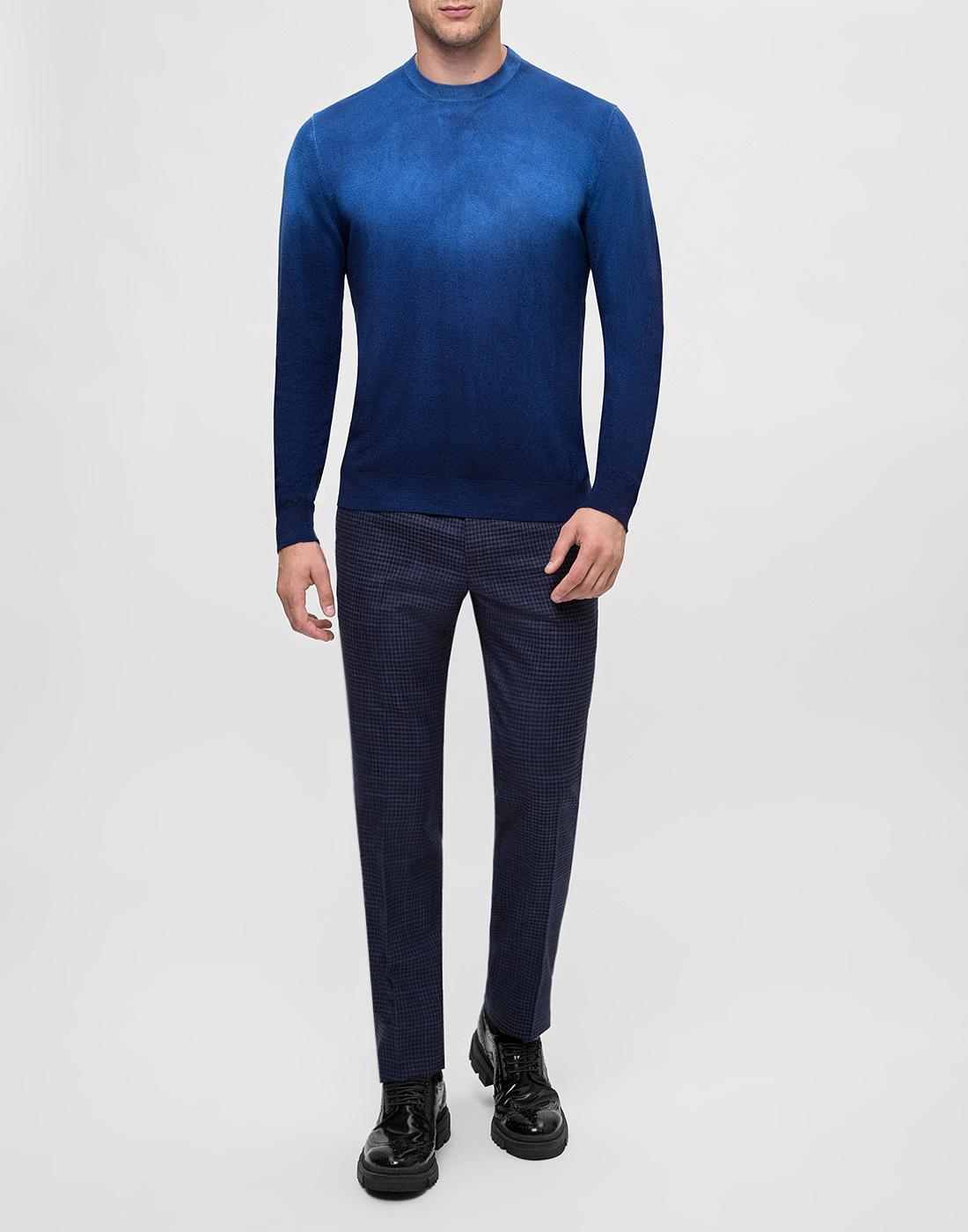Мужской темно-синий джемпер  Bertolo S901638-5