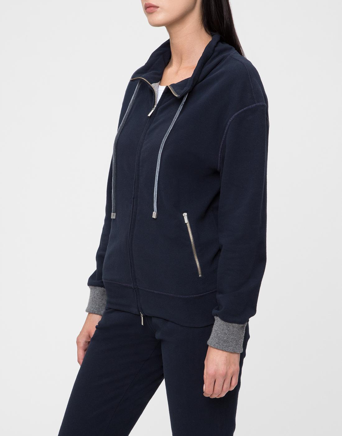 Женское темно-синее худи Capobianco S5W440.FZ00.-3