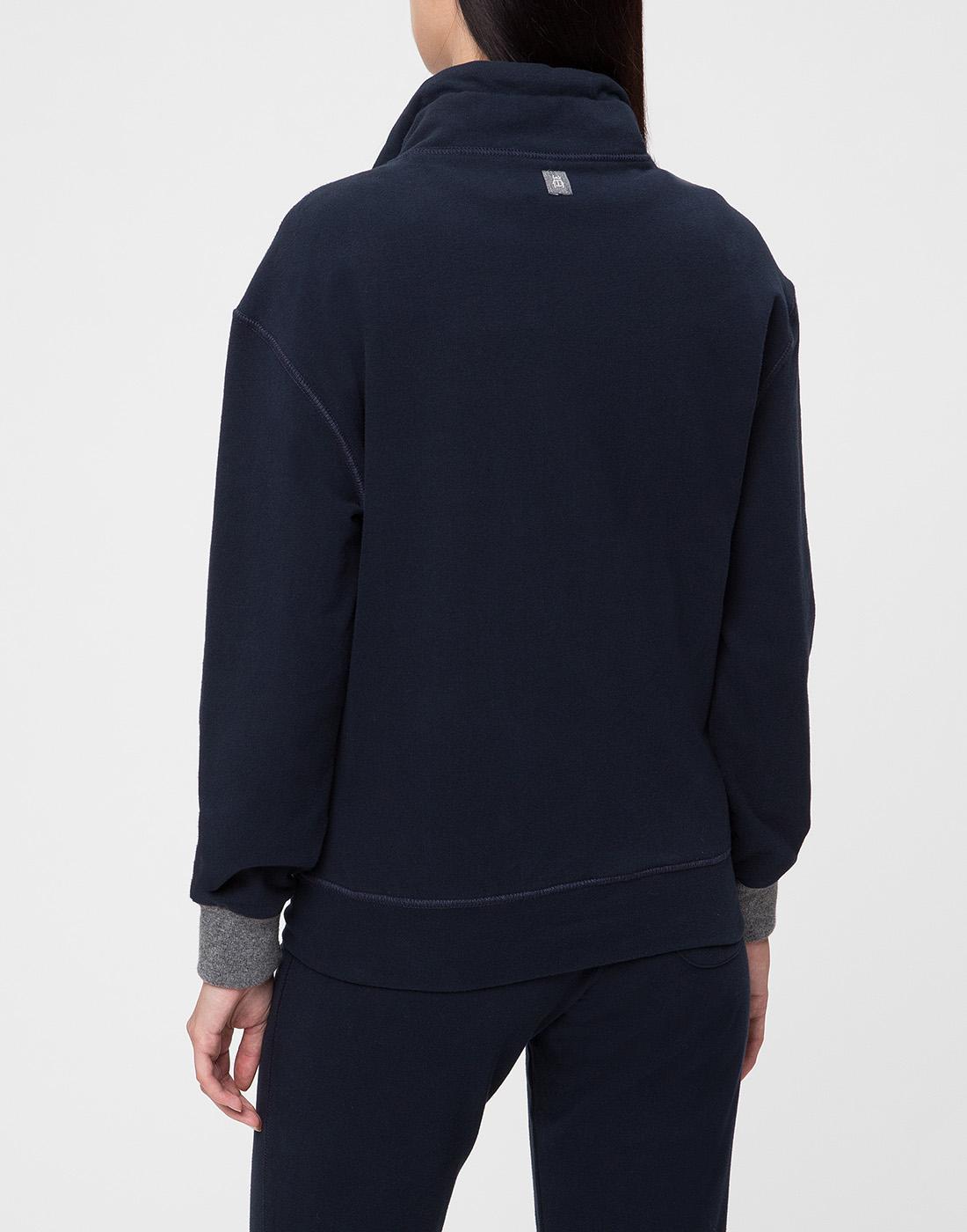 Женское темно-синее худи Capobianco S5W440.FZ00.-4