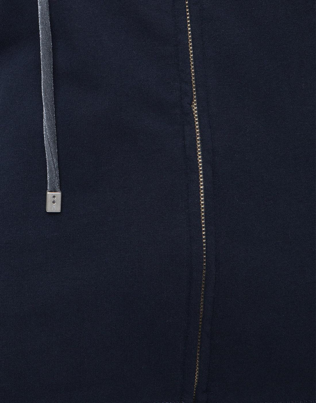 Женское темно-синее худи Capobianco S5W440.FZ00.-6