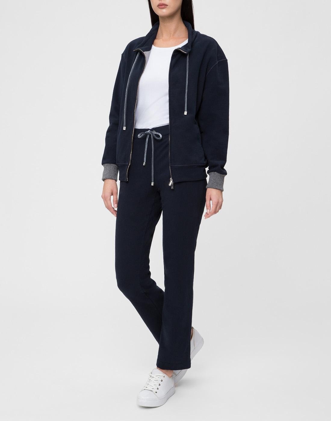 Женские темно-синие спортивные брюки Capobianco S5W715.FZ00.-5