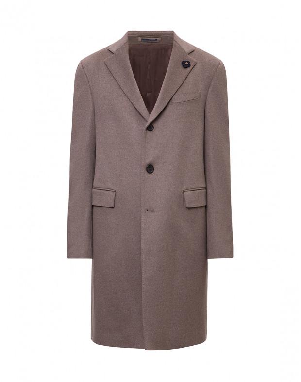Мужское бежевое кашемировое пальто