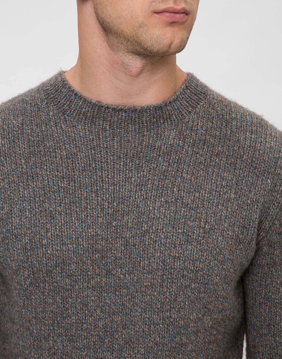 Мужской серый шерстяной джемпер