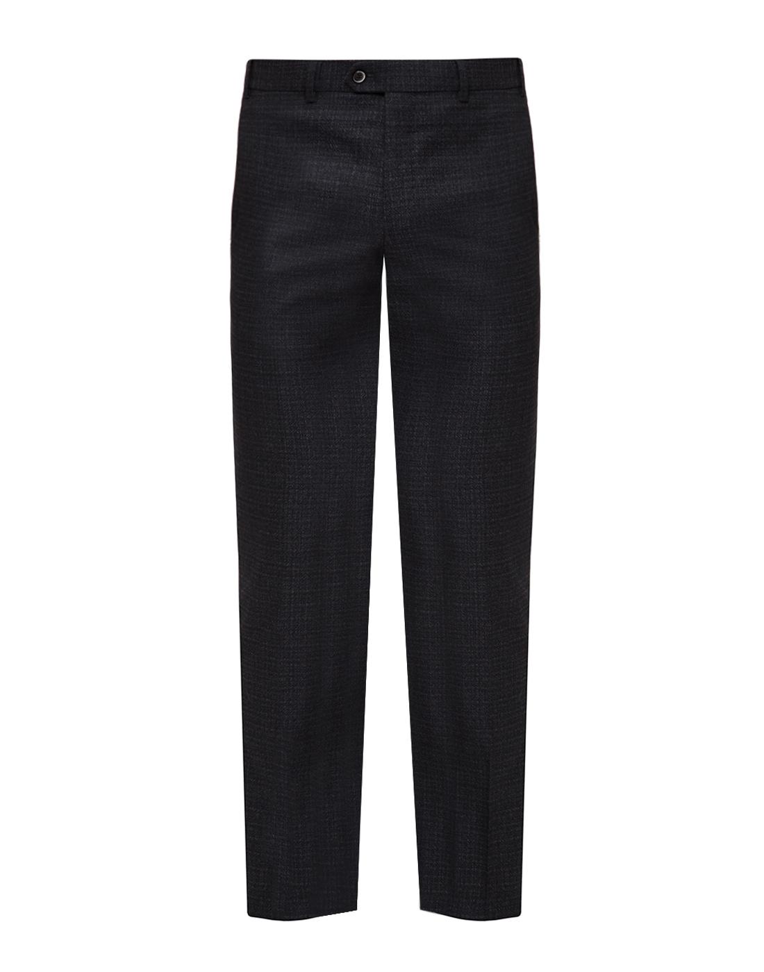Мужские темно-серые шерстяные брюки
