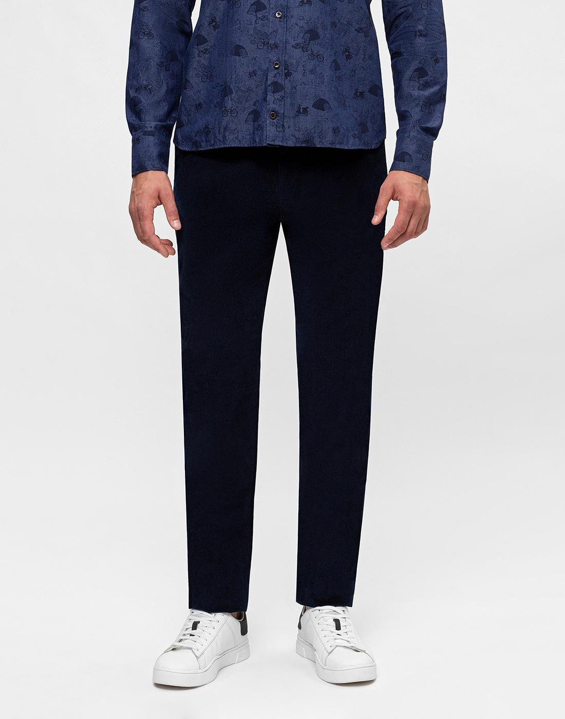 Мужские темно-синие вельветовые брюки Hiltl  S74818 43 71700-2