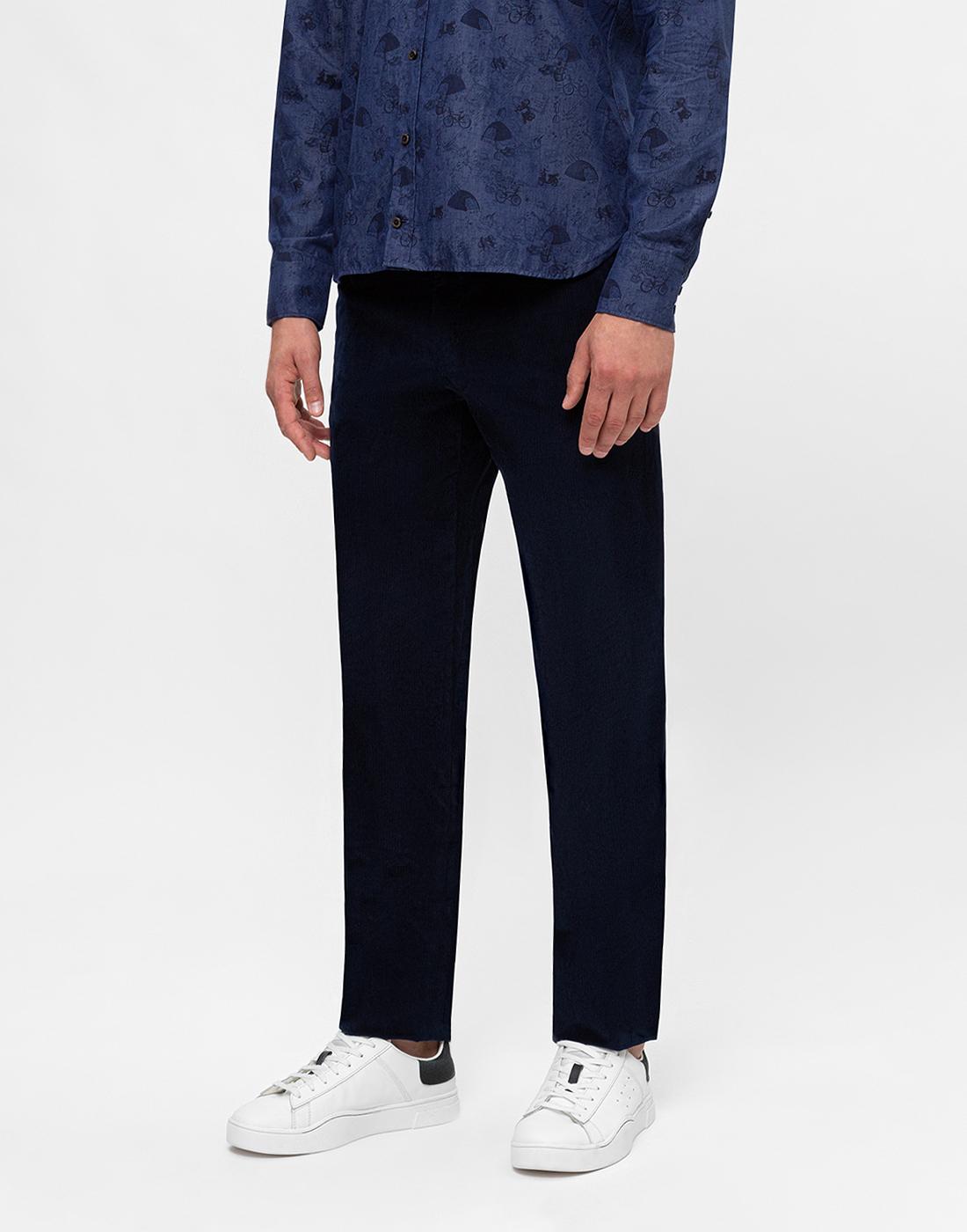 Мужские темно-синие вельветовые брюки Hiltl  S74818 43 71700-3