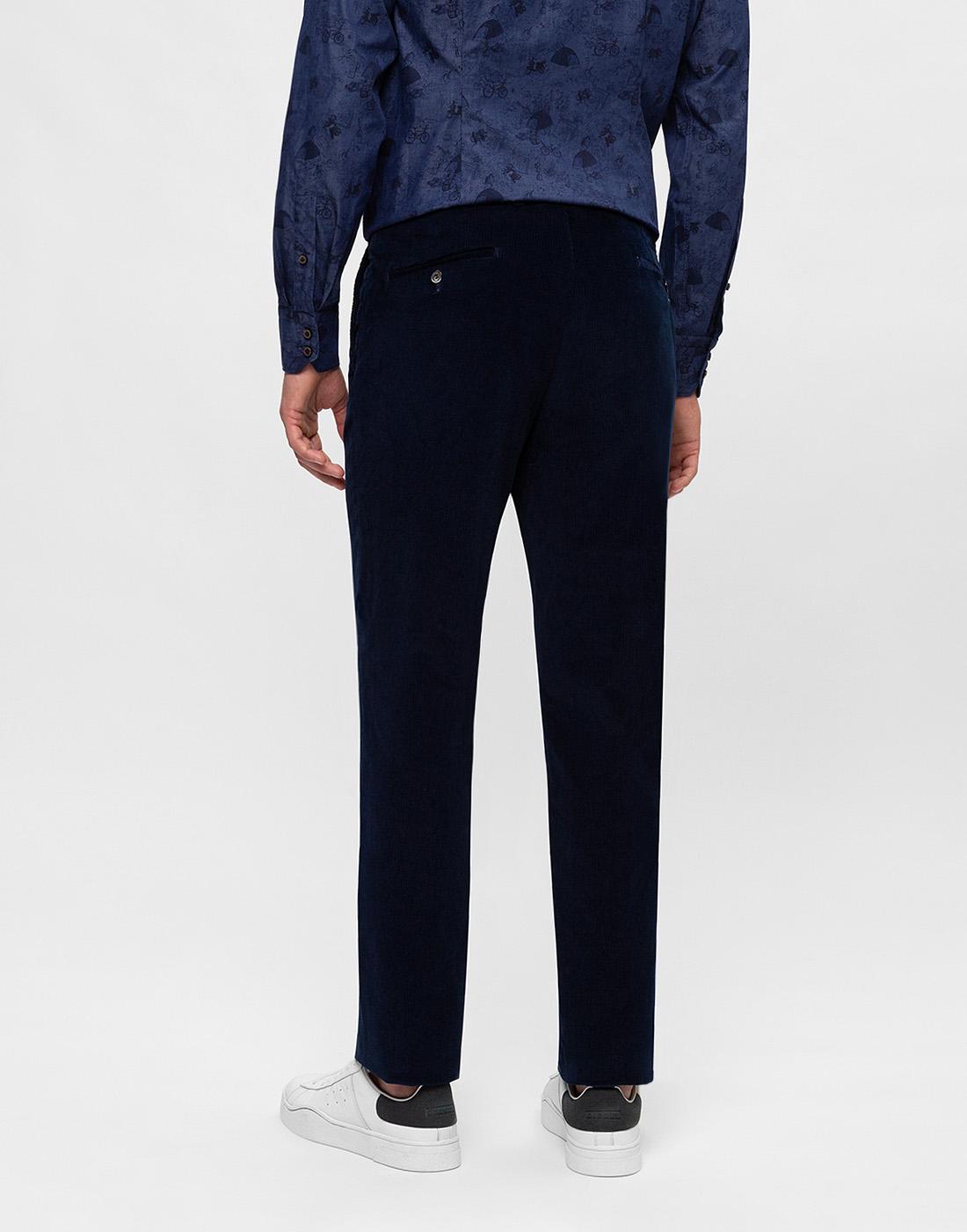 Мужские темно-синие вельветовые брюки Hiltl  S74818 43 71700-4