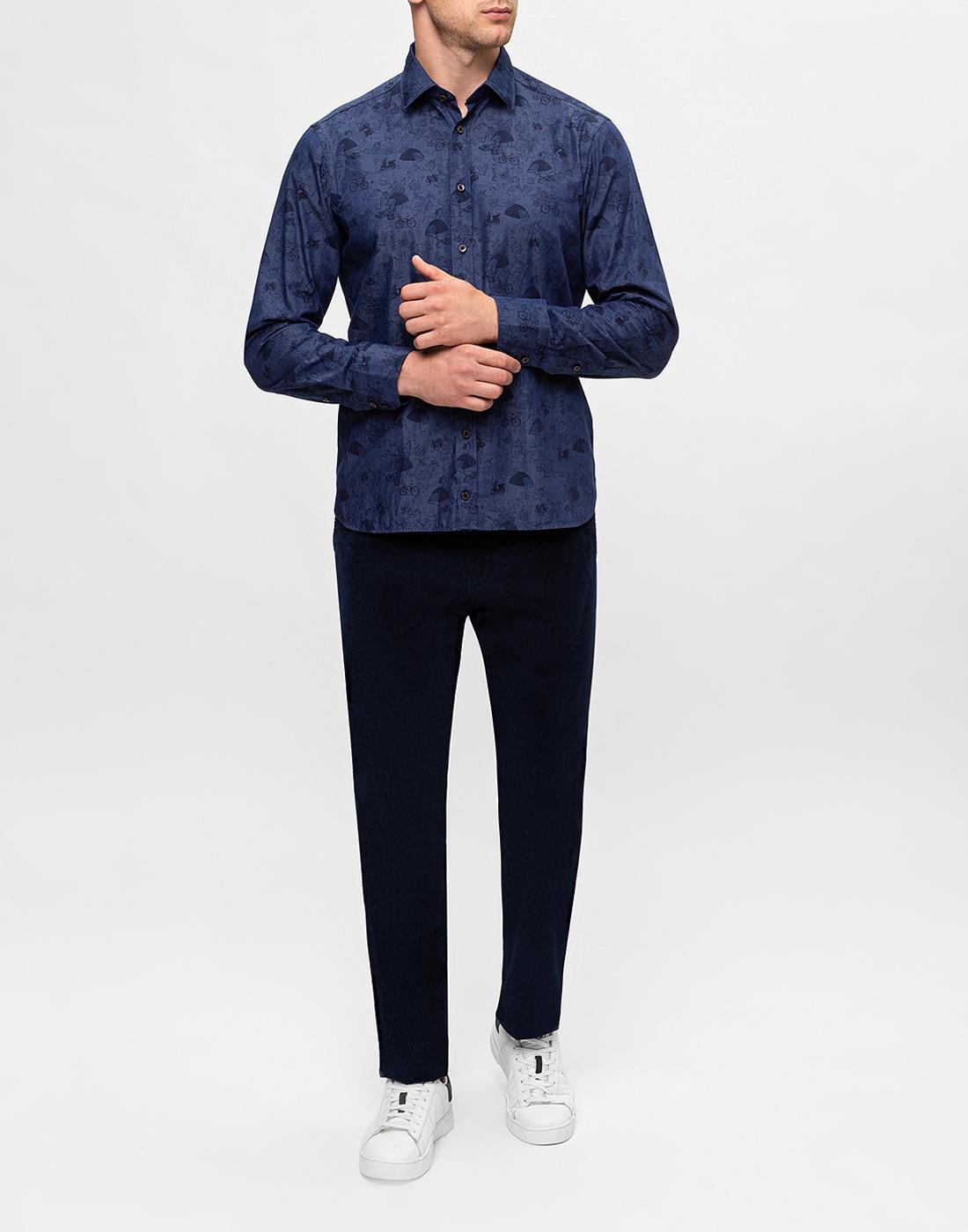 Мужские темно-синие вельветовые брюки Hiltl  S74818 43 71700-5