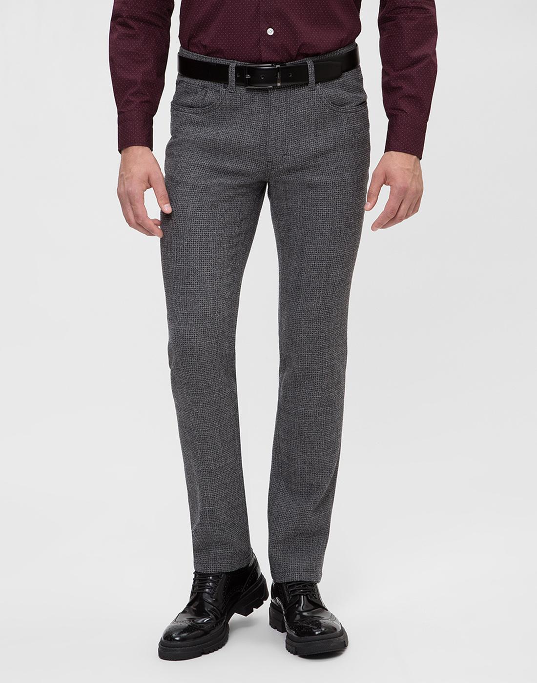 Мужские серые шерстяные брюки Hiltl  S12446 16 33580-2