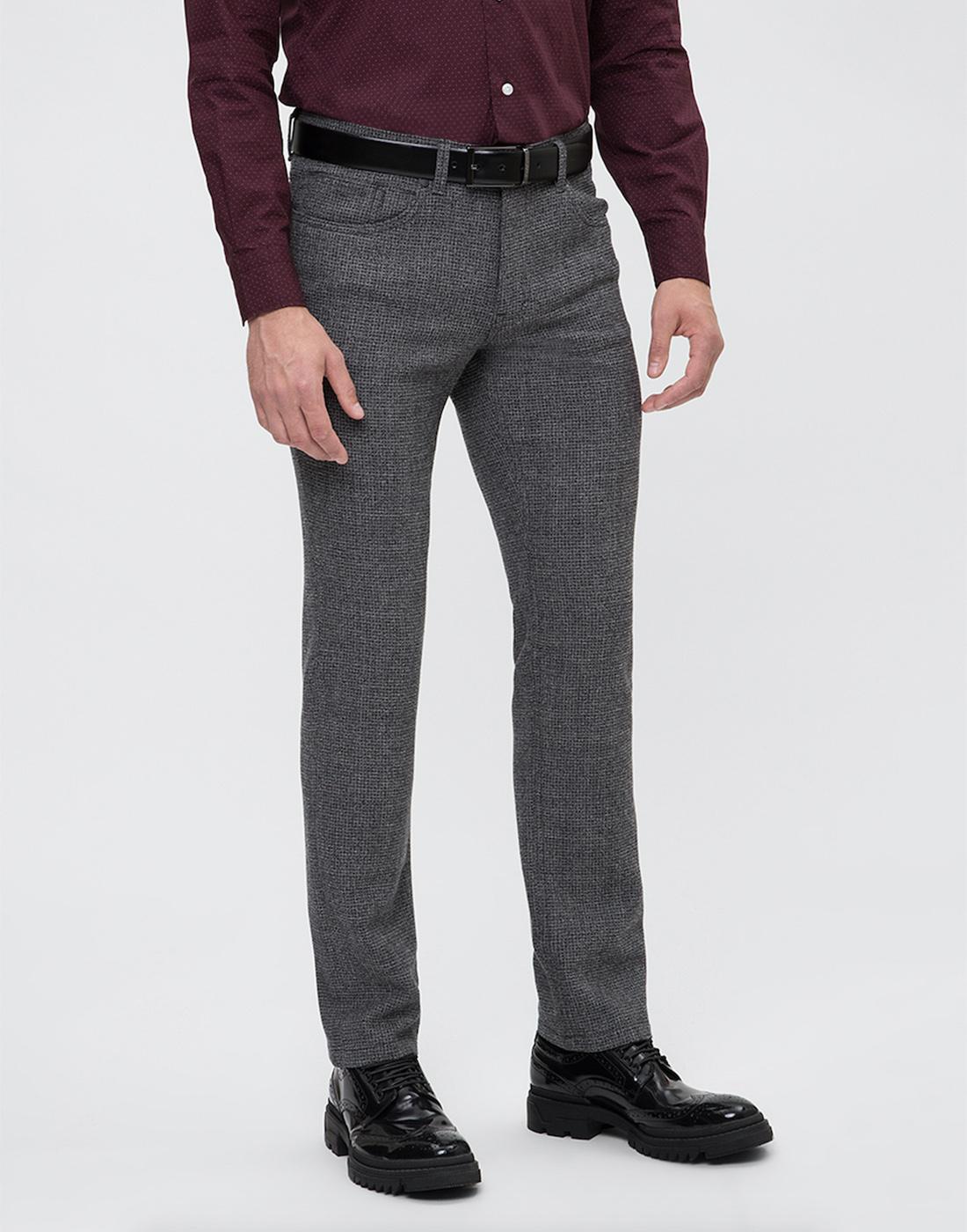 Мужские серые шерстяные брюки Hiltl  S12446 16 33580-3