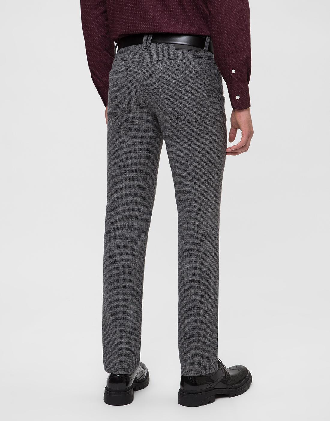 Мужские серые шерстяные брюки Hiltl  S12446 16 33580-4