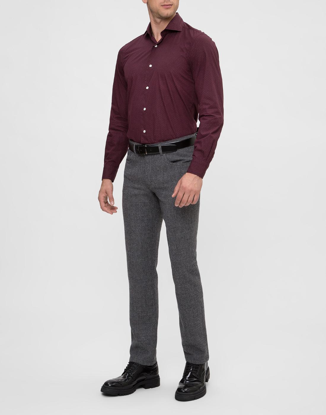 Мужские серые шерстяные брюки Hiltl  S12446 16 33580-5