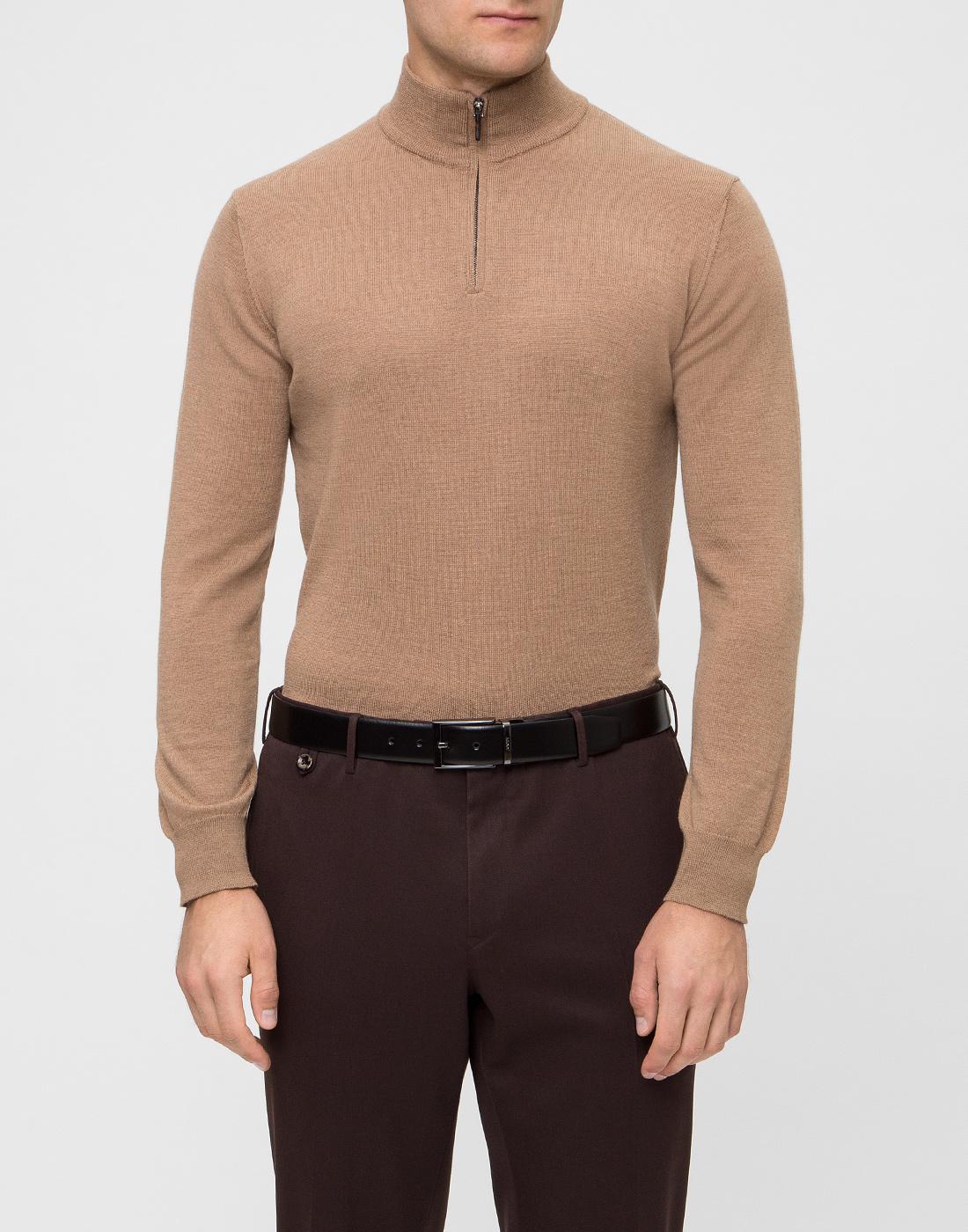 Мужской бежевый шерстяной свитер Dalmine S692029 537-2