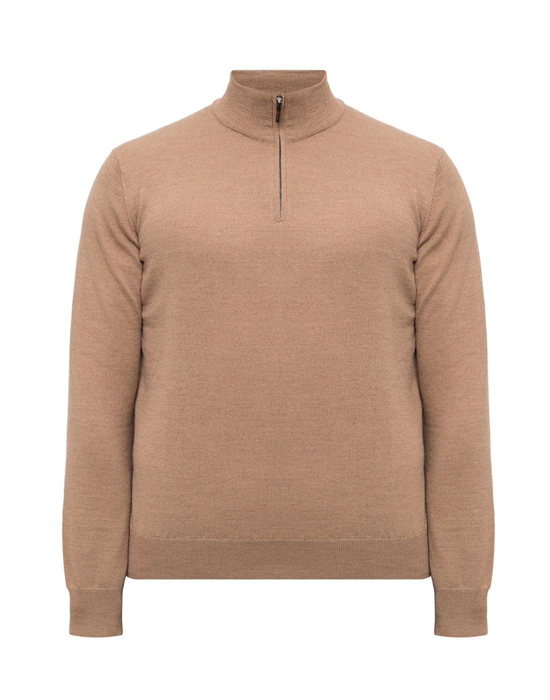 Мужской бежевый шерстяной свитер Dalmine S692029 537-1