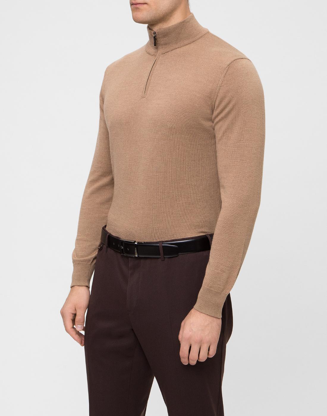 Мужской бежевый шерстяной свитер Dalmine S692029 537-3