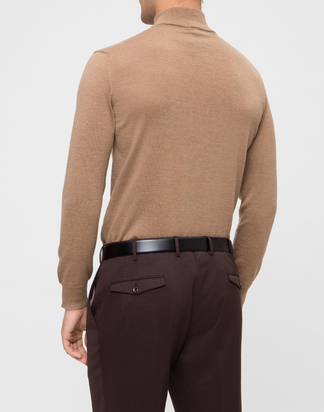 Мужской бежевый шерстяной свитер Dalmine S692029 537-4