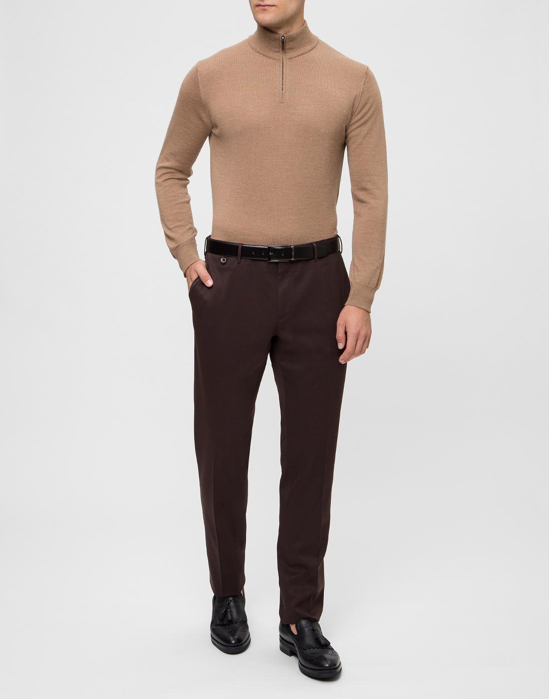 Мужской бежевый шерстяной свитер Dalmine S692029 537-5