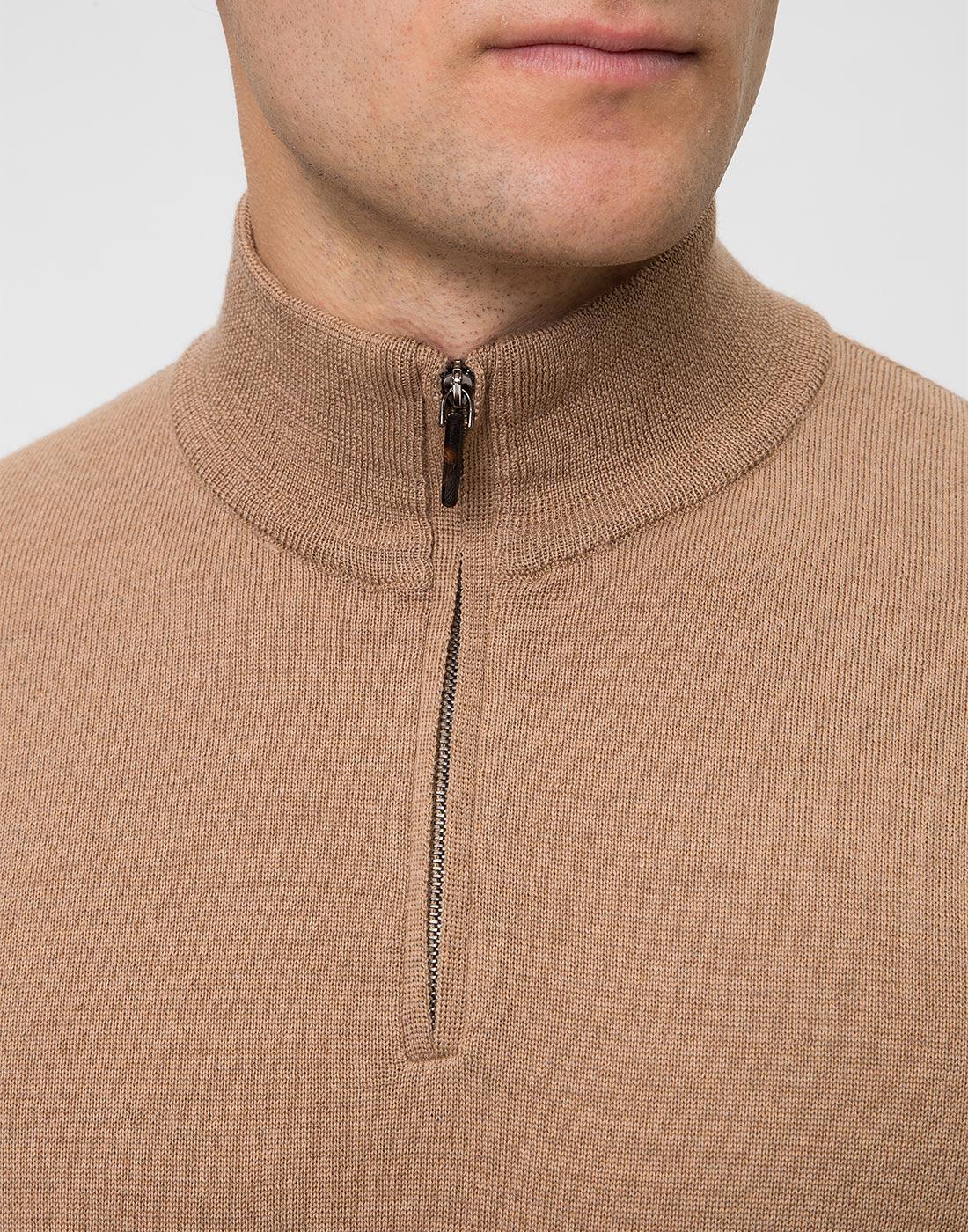 Мужской бежевый шерстяной свитер Dalmine S692029 537-6