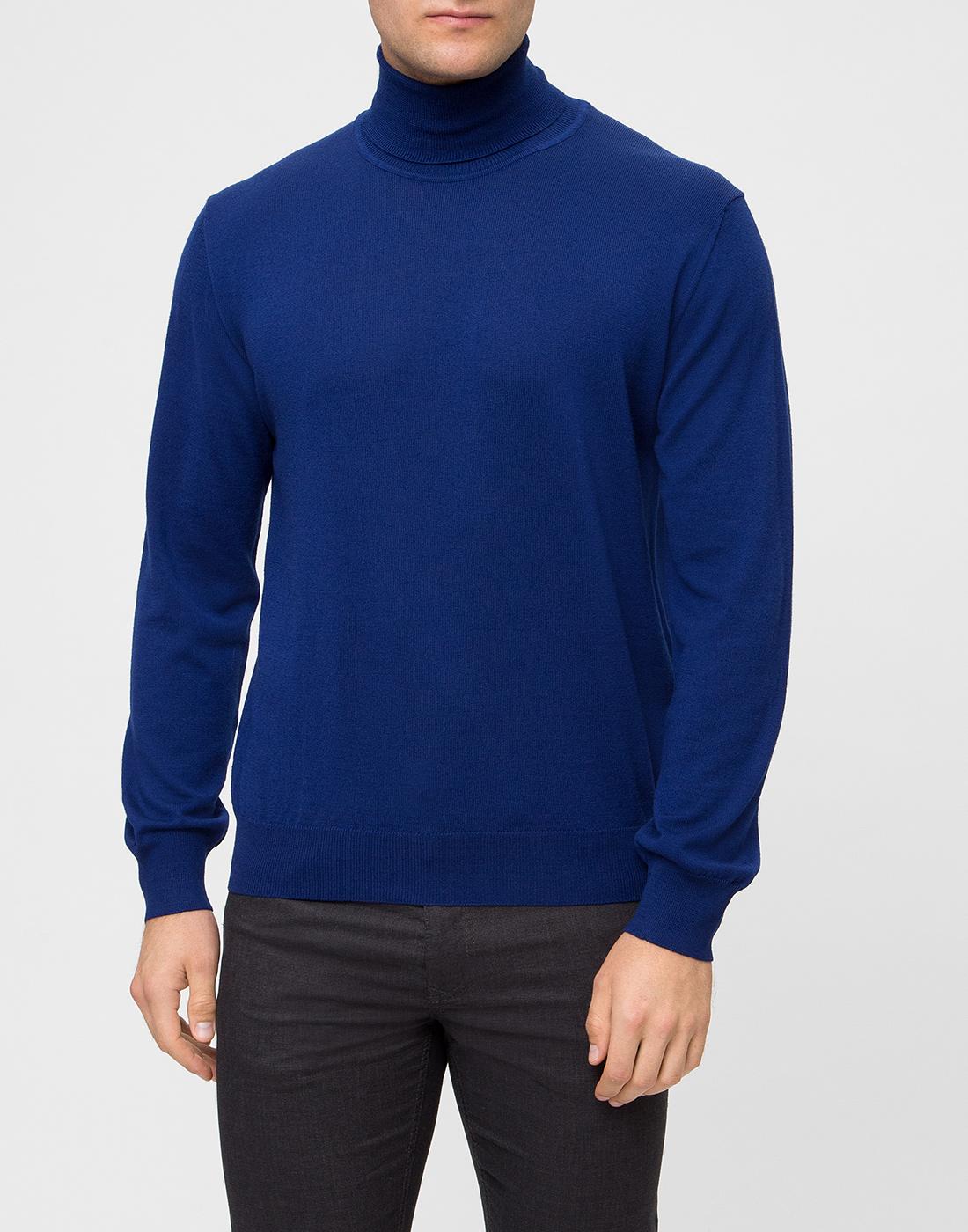 Мужской синий шерстяной гольф Dalmine S692030 754-2