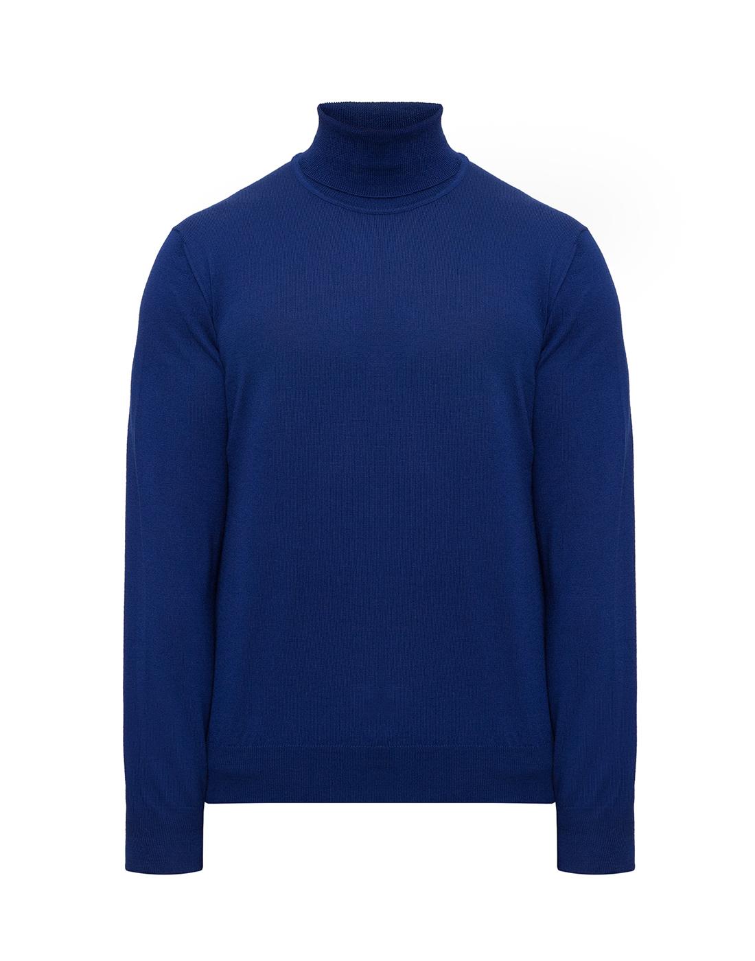 Мужской синий шерстяной гольф Dalmine S692030 754-1