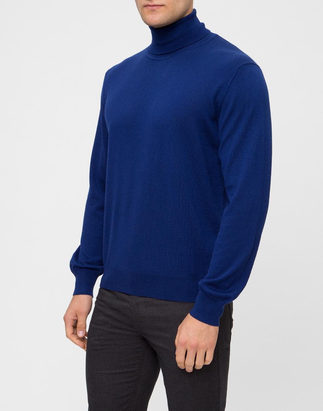 Мужской синий шерстяной гольф Dalmine S692030 754-3