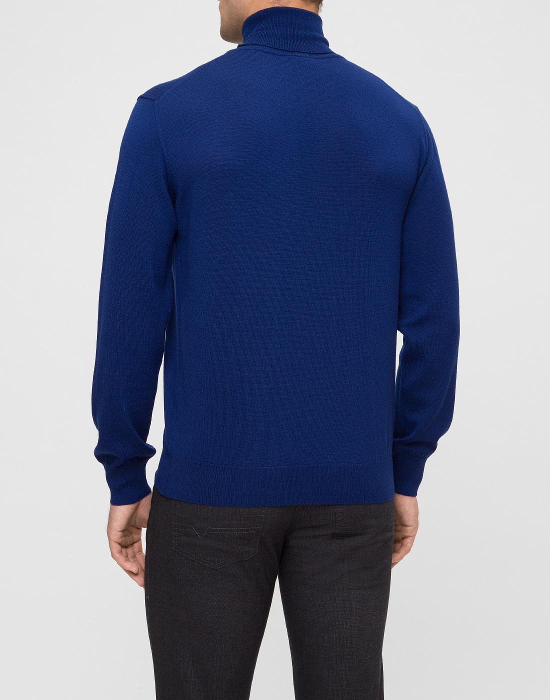 Мужской синий шерстяной гольф Dalmine S692030 754-4