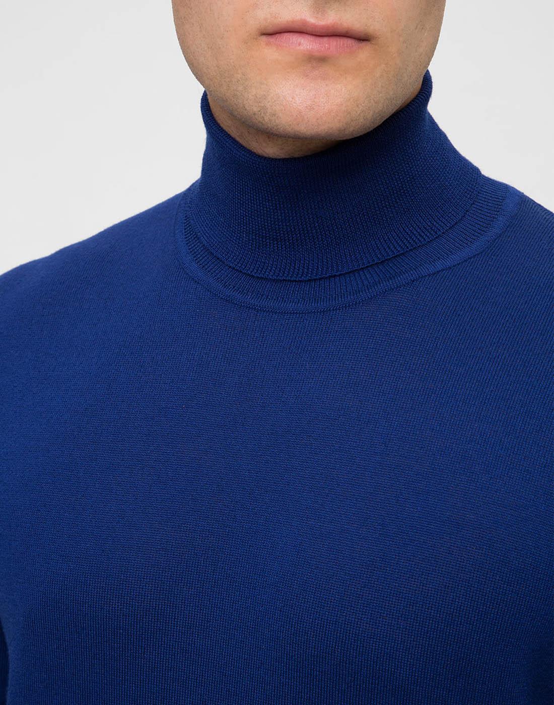 Мужской синий шерстяной гольф Dalmine S692030 754-6