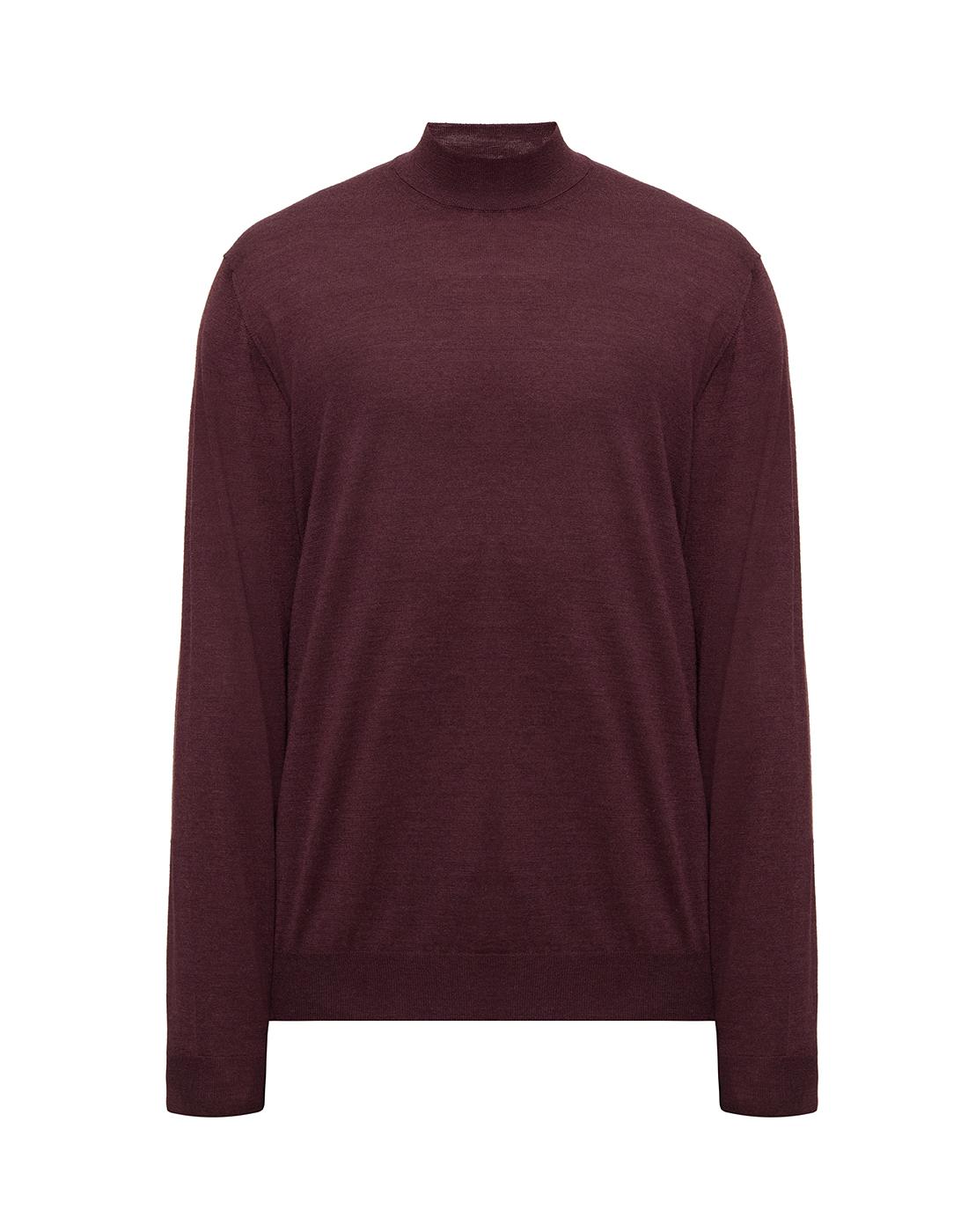Мужской бордовый шерстяной свитер Dalmine S797020 835-1