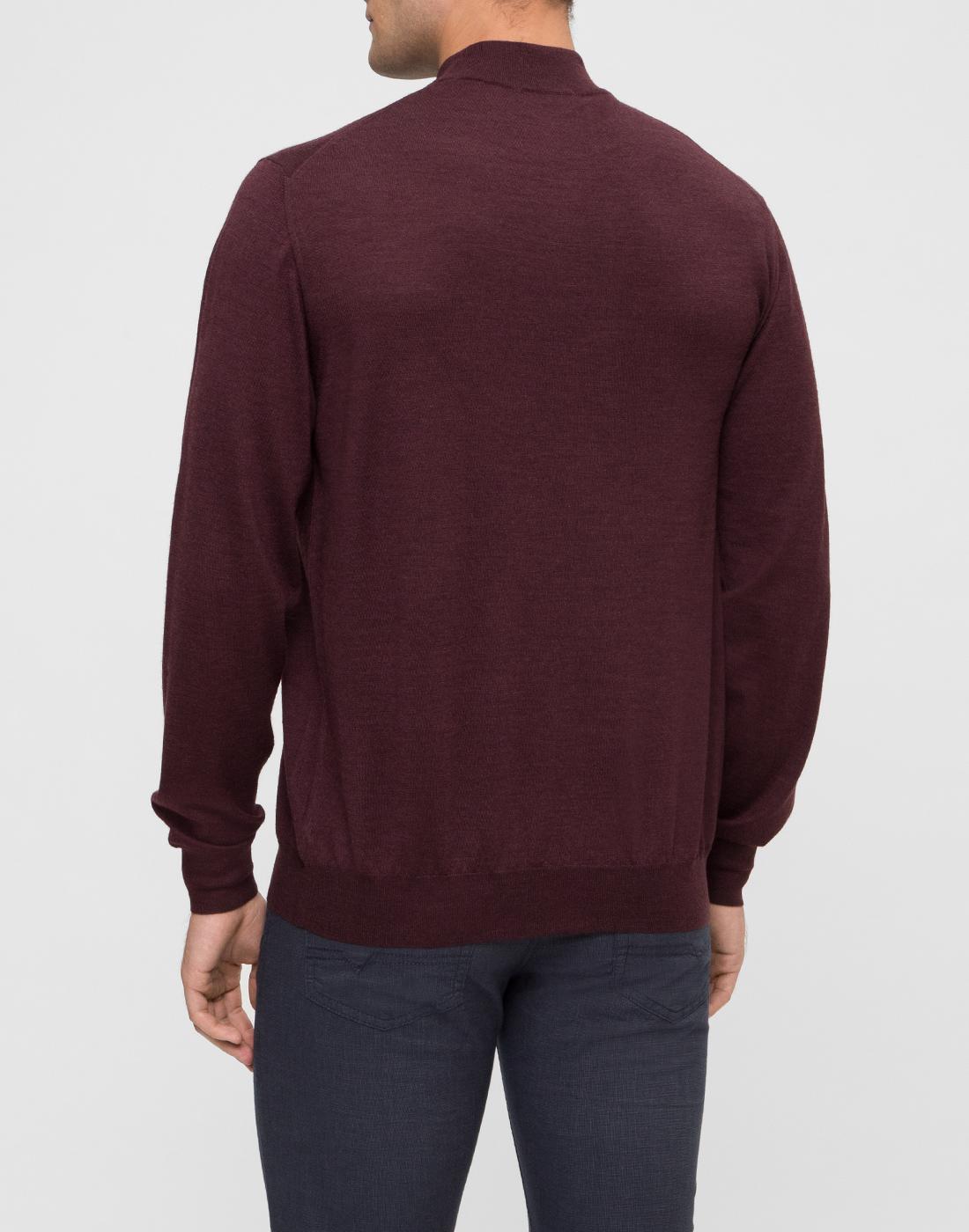 Мужской бордовый шерстяной свитер Dalmine S797020 835-4
