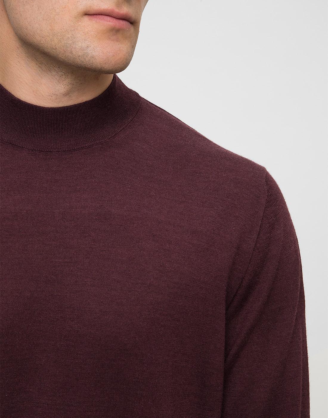 Мужской бордовый шерстяной свитер Dalmine S797020 835-6