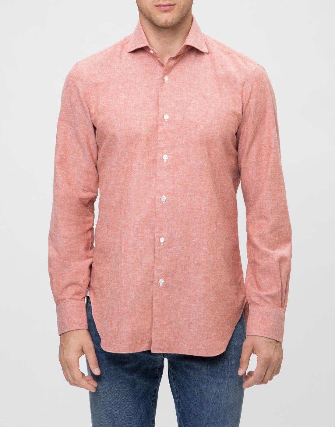 Мужская оранжевая рубашка Barba S556603U-2