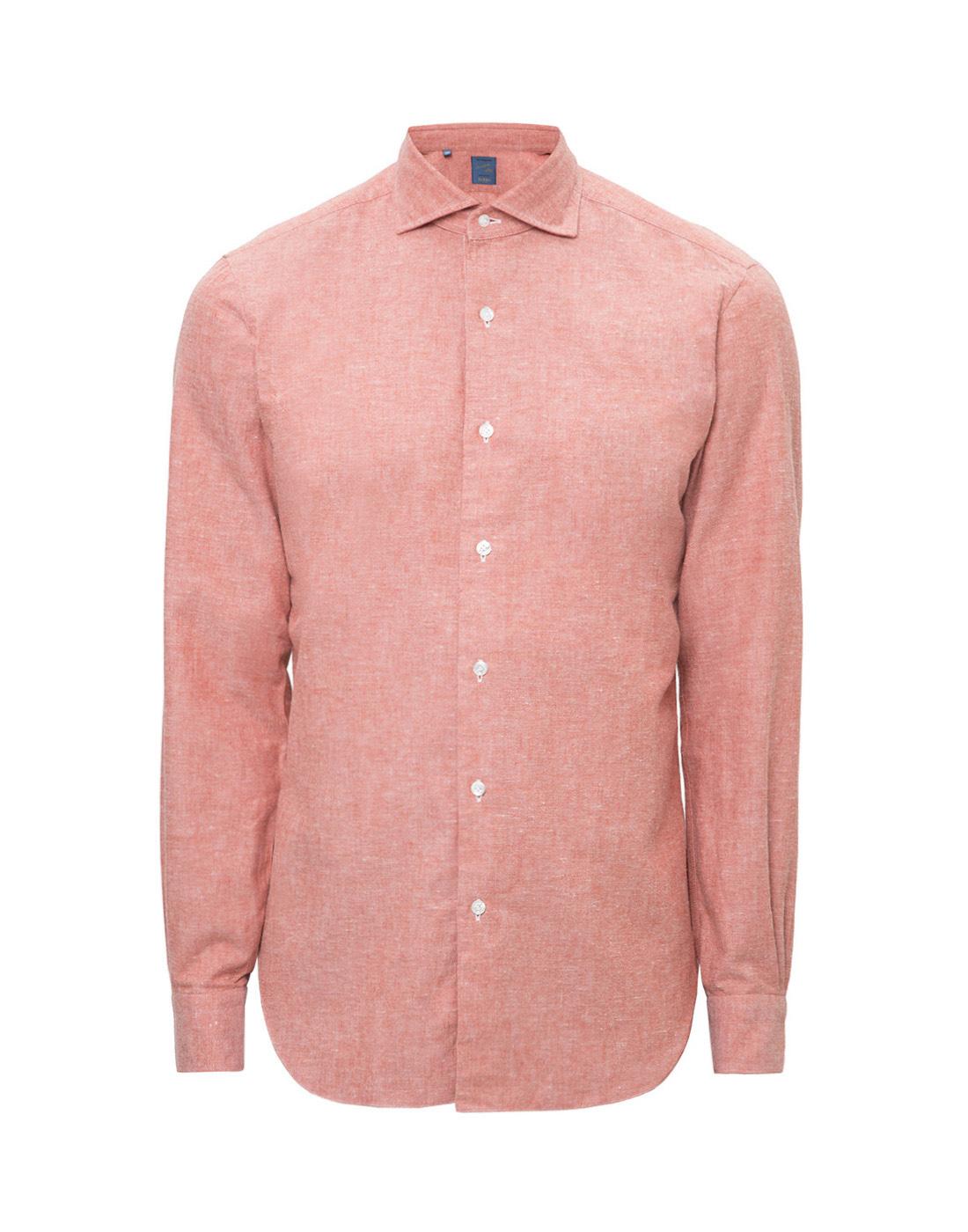 Мужская оранжевая рубашка Barba S556603U-1