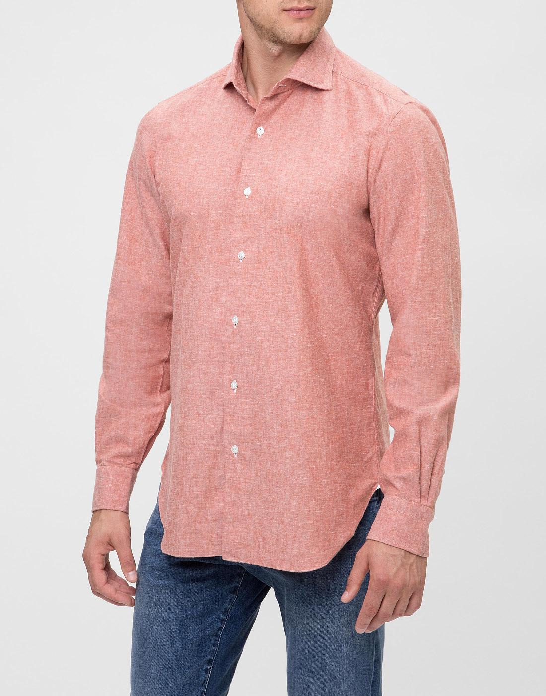 Мужская оранжевая рубашка Barba S556603U-3