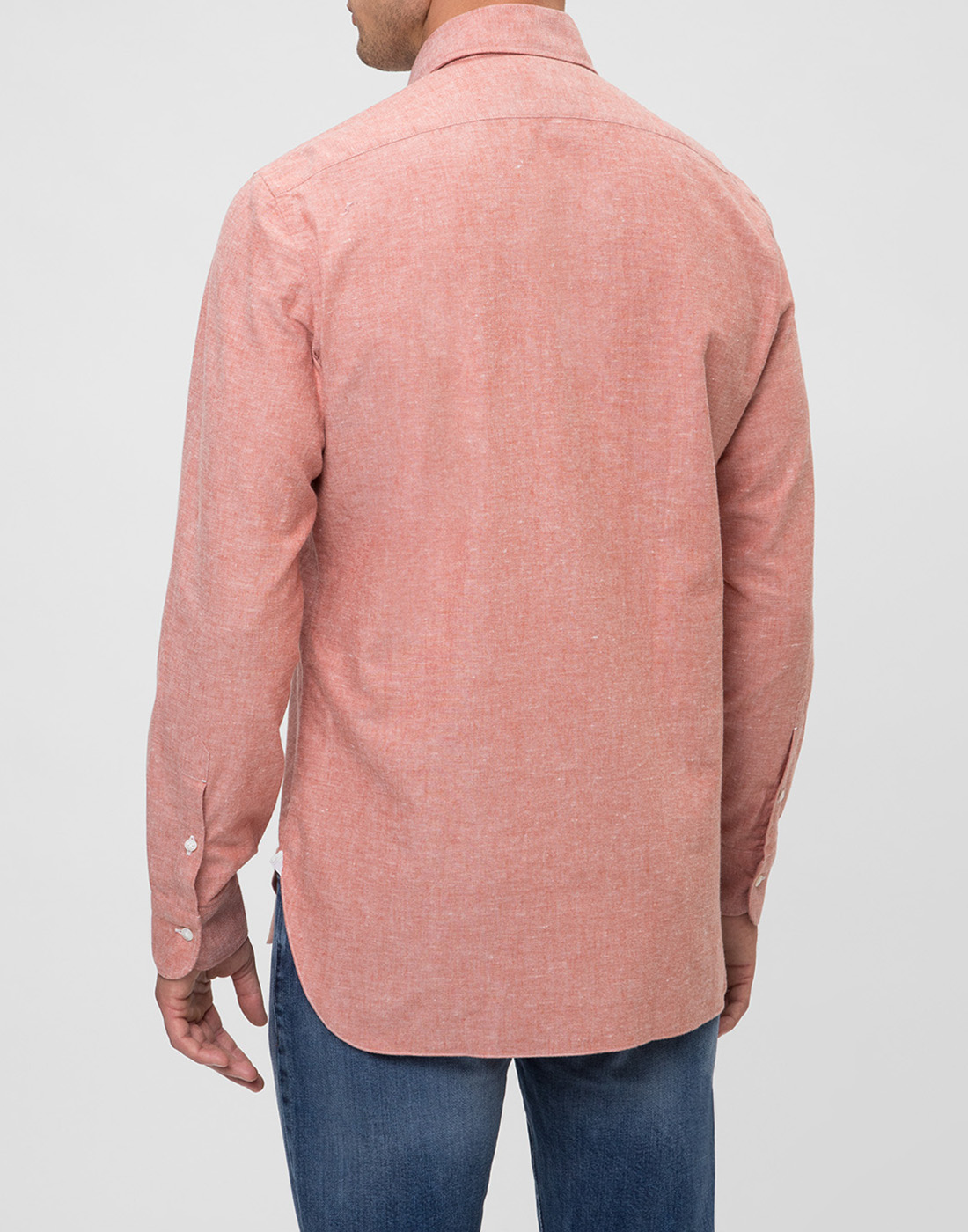 Мужская оранжевая рубашка Barba S556603U-4