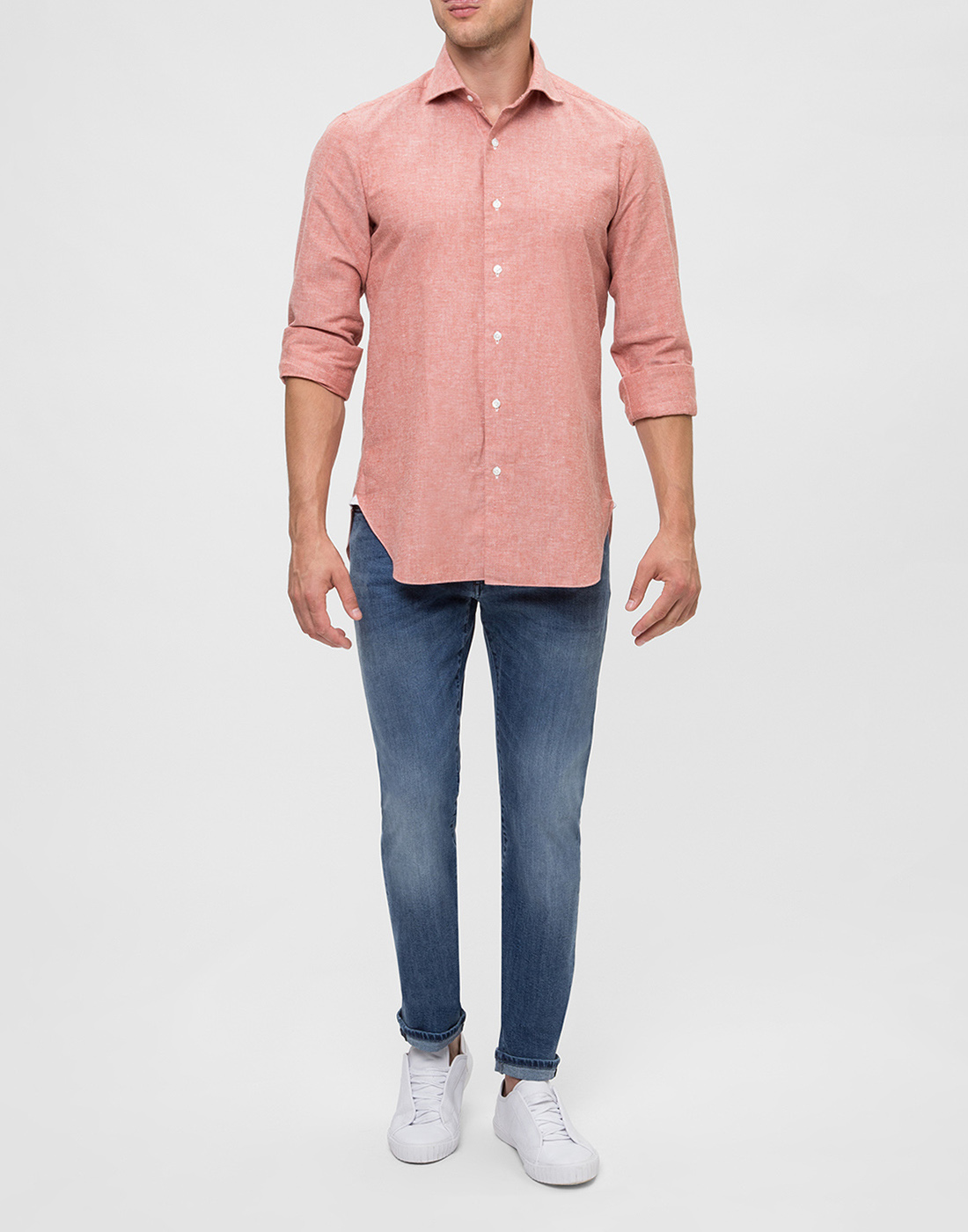 Мужская оранжевая рубашка Barba S556603U-6