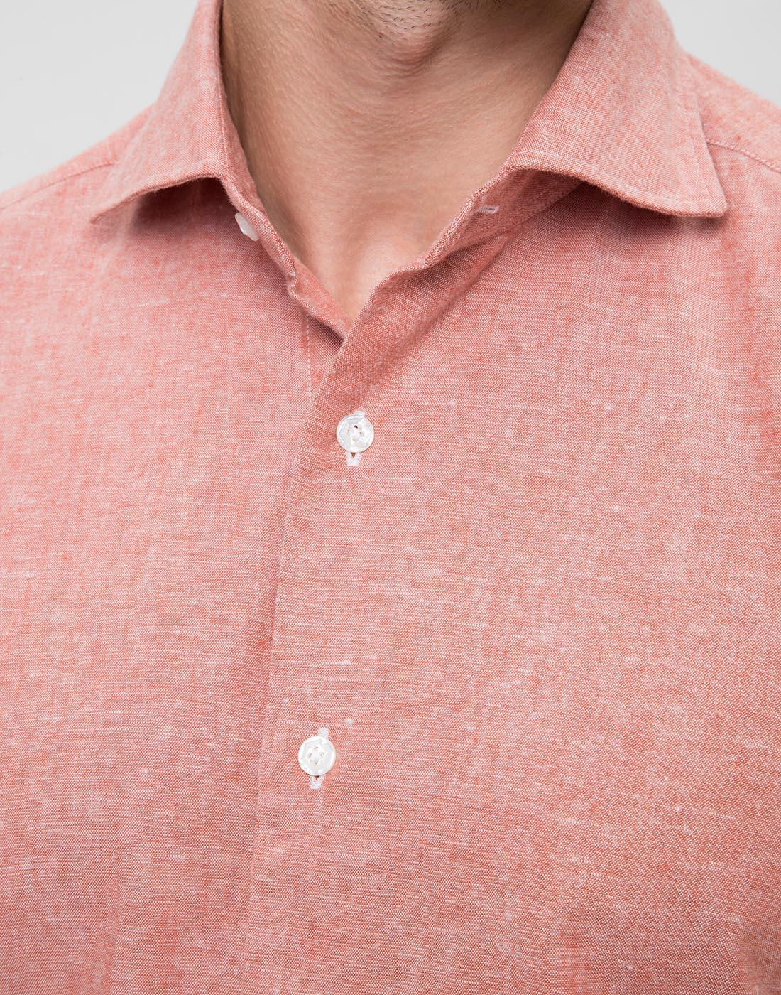 Мужская оранжевая рубашка Barba S556603U-7