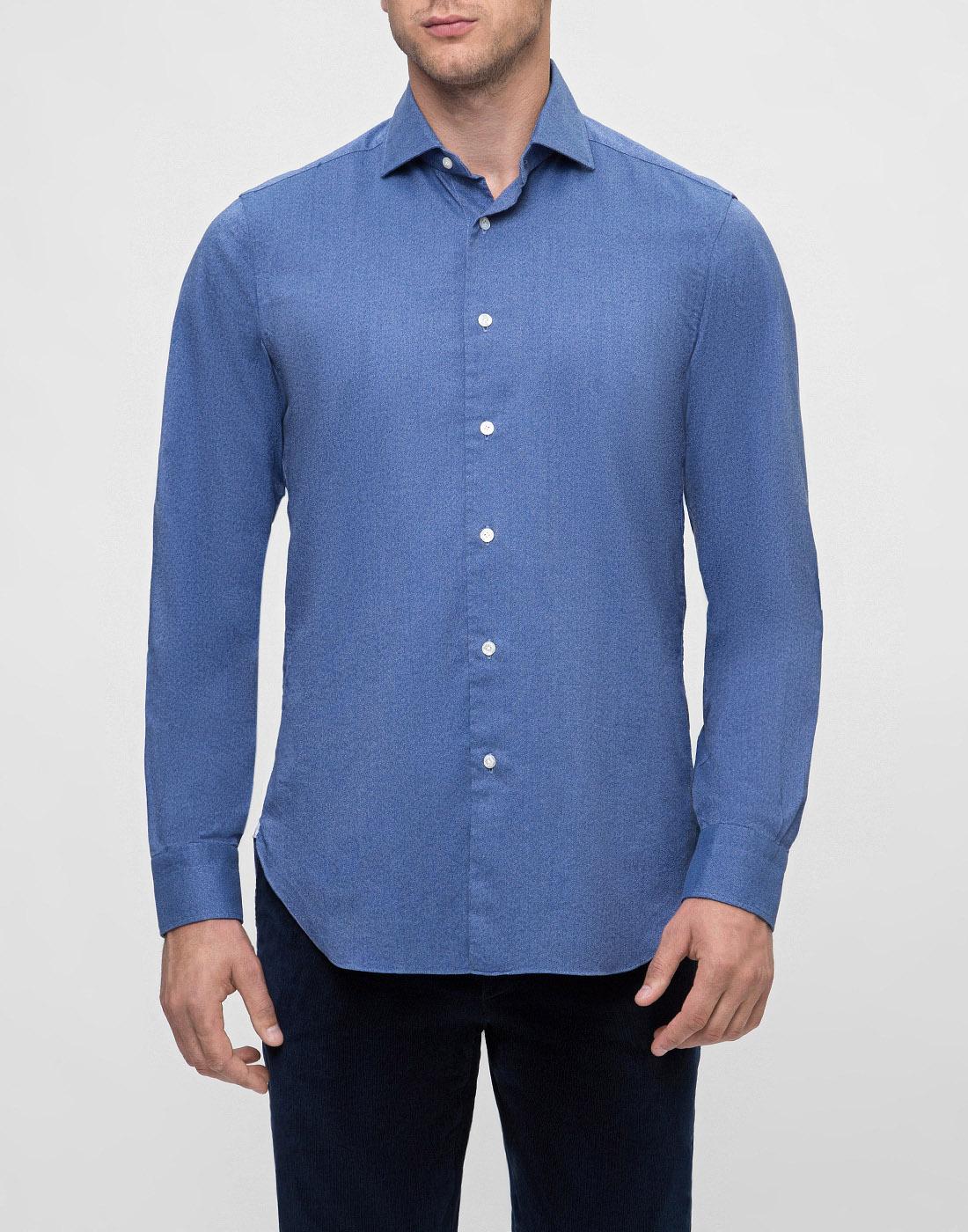Мужская синяя рубашка Barba S554506U-2