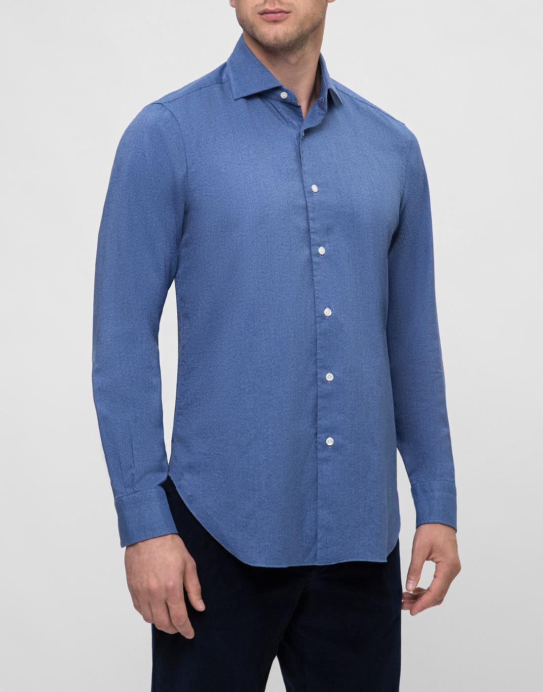 Мужская синяя рубашка Barba S554506U-3
