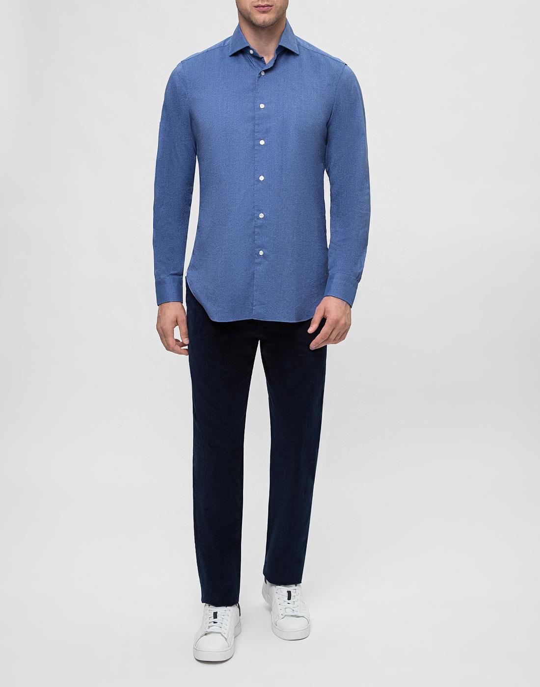 Мужская синяя рубашка Barba S554506U-5